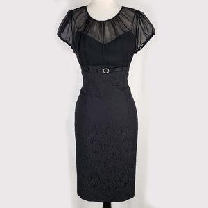 Tahari Arthur S. Levine vintage style belted dress